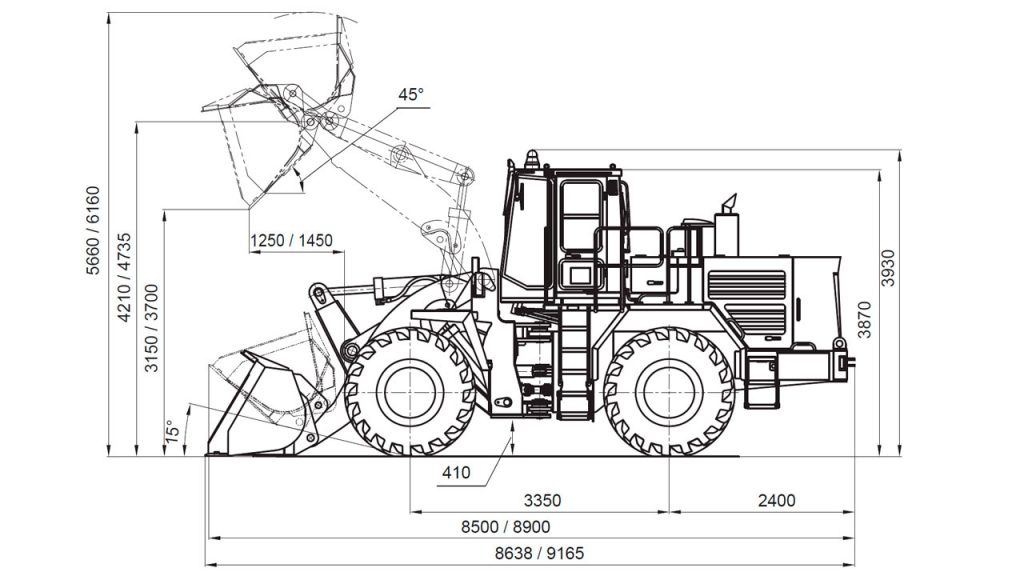 Технологическая схема фронтальных погрузчиков Амкодор 371 и Амкодор 371-01