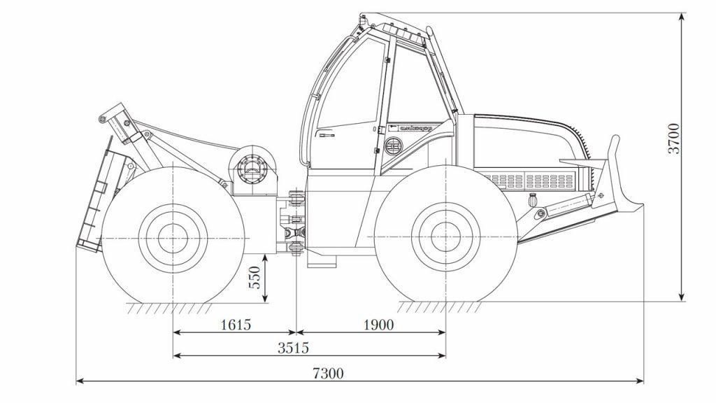 Технологическая схема машины трелевочной Амкодор 2242В