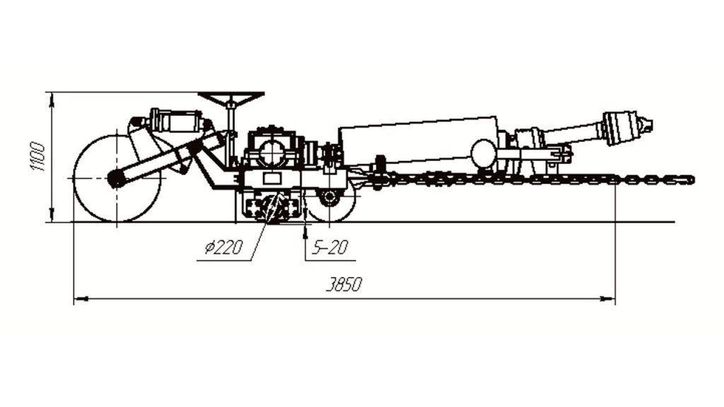 Барабан фрезерный Амкодор АТФ-10