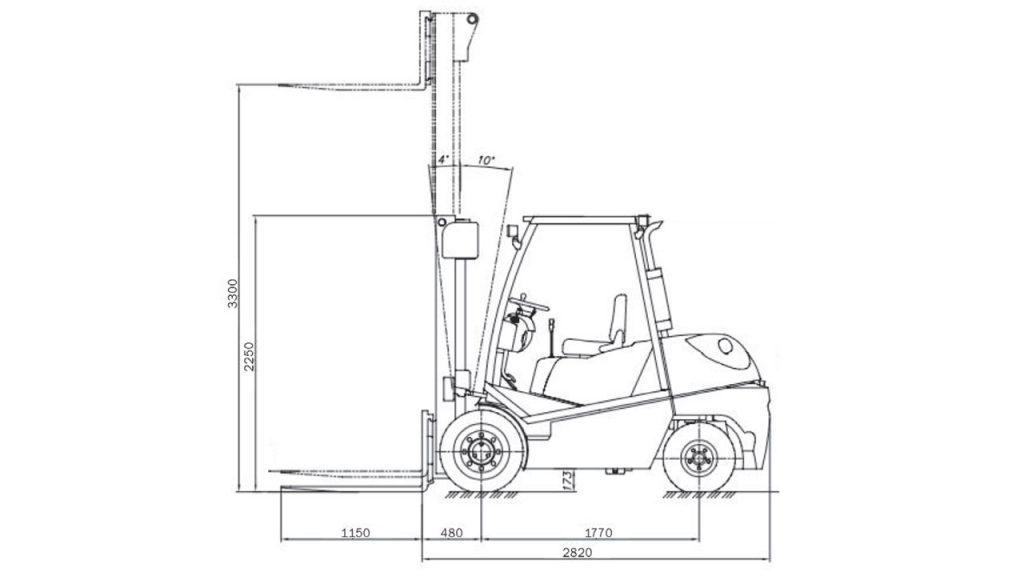 Автопогрузчик вилочный Амкодор D35-C33