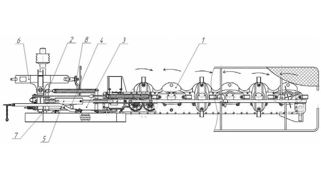 Конструктивная схема косилки ротационной навесной АС-1-02
