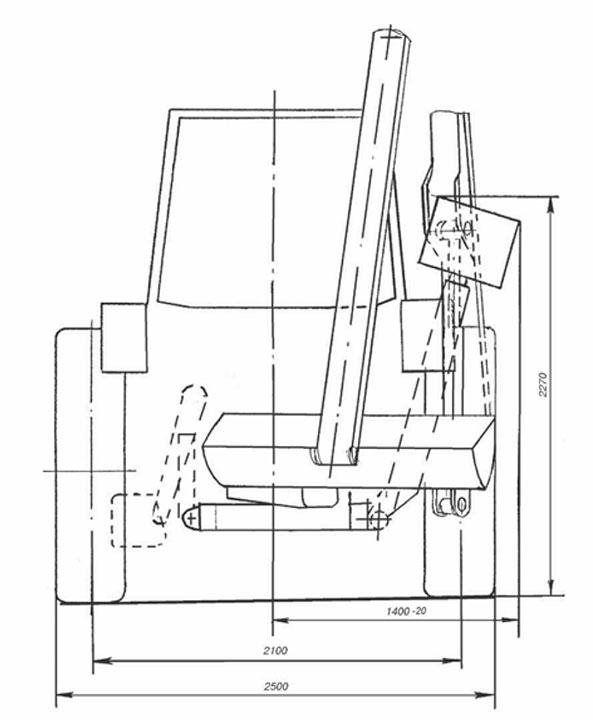 Общий вид ОКН-05 с очистным ковшом
