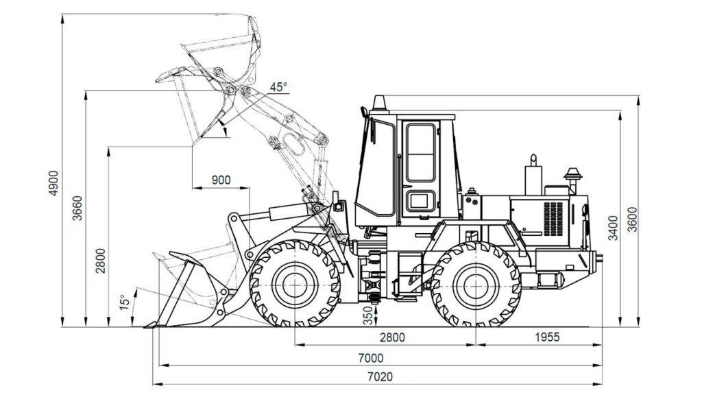 Технологическая схема Амкодор 333В